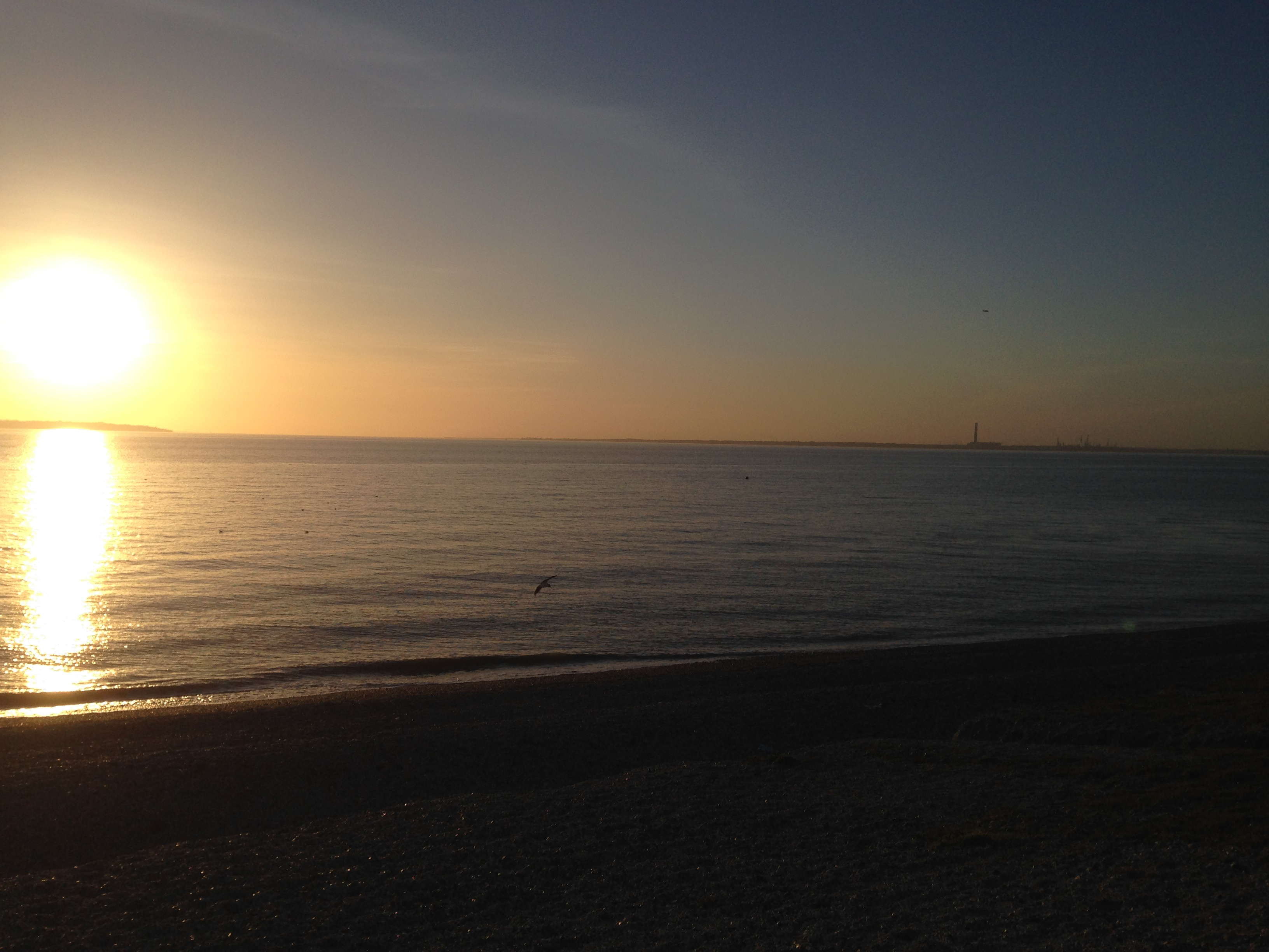 Lee on solent at sunset