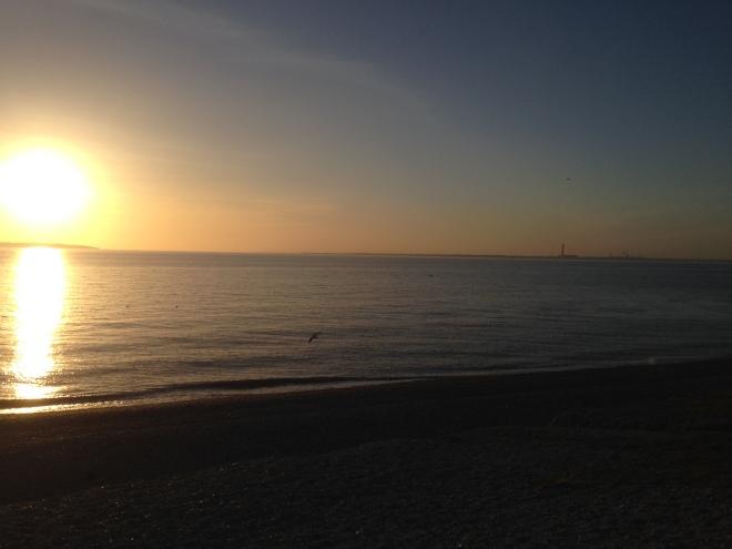 Lee on solent at sunset