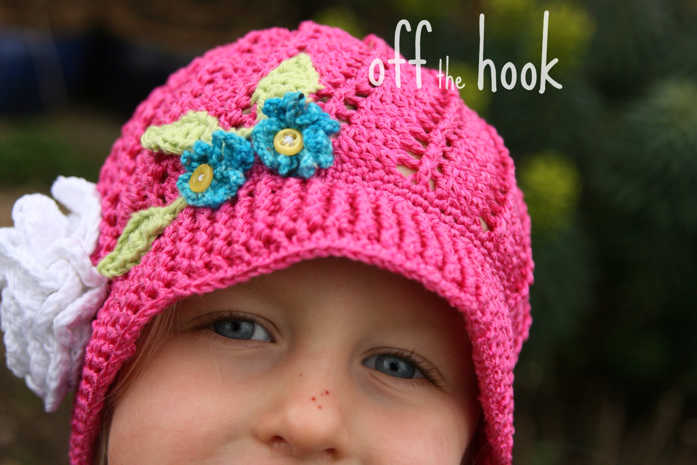 crochet Russian sun hat kids